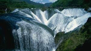 background waterfalls magnificent