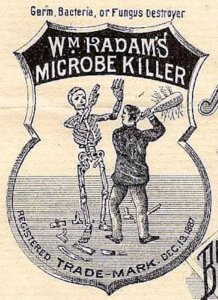 Radam's Microbe Killer label, 1887